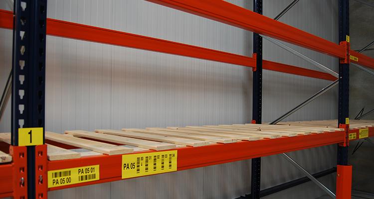 Reinforced warehouse racking