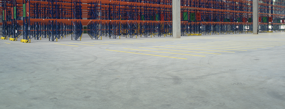 Superflat warehouse flooring
