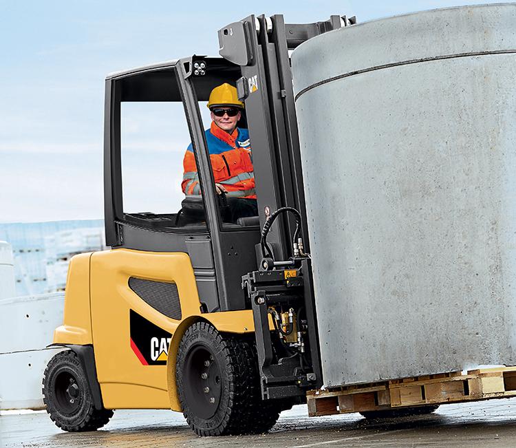 Fork lift truck driver comfort